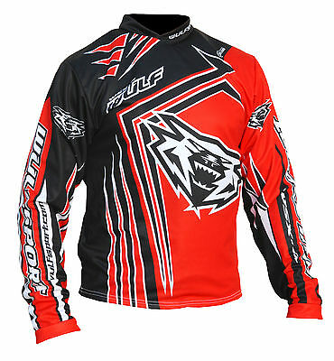 Wufsport WSX4 red trials shirt size large motocross motorbike MX leisure