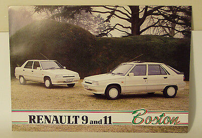 2 page / 4 side  Renault 9 and 11 Boston Special Edition  UK Brochure 1987