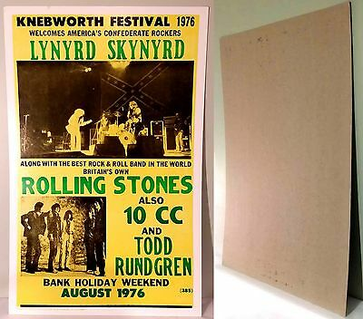 "KNEBWORTH 1976 FESTIVAL Nostalgia Heavy Stock 22""x14""  Poster-NEW"