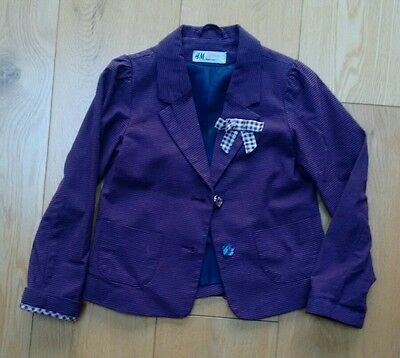 Girls purple jacket from H&M age 6-7