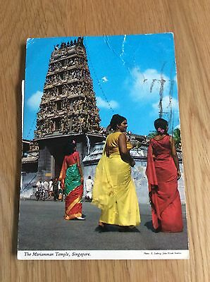 Vintage Postcards - The Mariamman Temple, Singapore