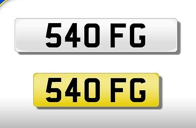 540 FG Dateless cherished private number plate (OFG, BMW 911 Dan?)