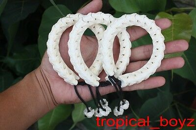 3 Large Genuine Handmade Snake Bone Bracelets Wholesale