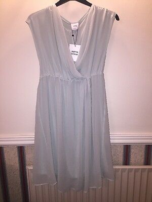 Mama-Licious Maternity Chiffon Nursing Dress Mint Size L
