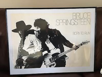 Original Promotional Poster Bruce Springsteen Born To Run