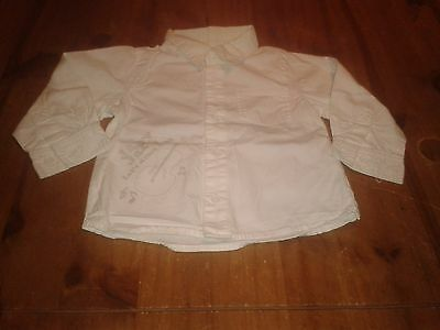 chemise blanc manches longues taille 12 mois TBE