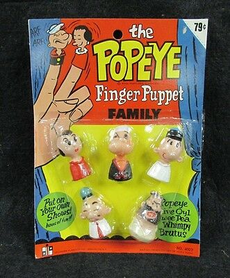 Vintage King Feature Syndicate The Popeye Finger Puppet Olive Oyl Bluto + F257