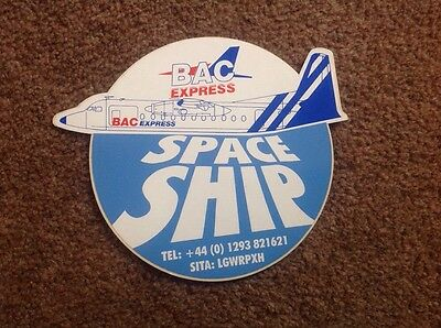 Bac Express Fokker F27-500 Agent Defunct Airline Sticker