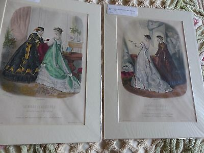 A Group of 10 Victorian Era or Earlier Fashion Prints