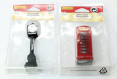 Lemax 44176 Telephone Booth / 74634 Street Clock 6M
