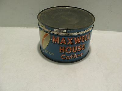 Vintage Antique Collectible Maxwell House Coffee One Pound Advertising Tin Can