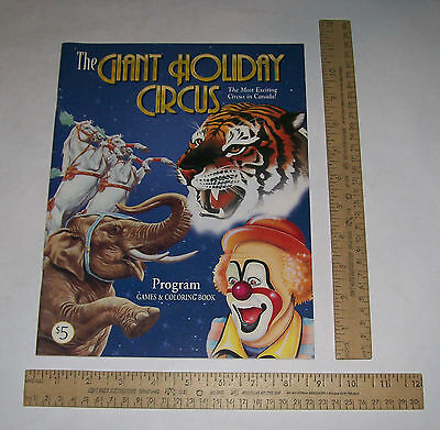 The GIANT HOLIDAY CIRCUS - CIRCUS PROGRAM / Games & Coloring Book - Canada  md