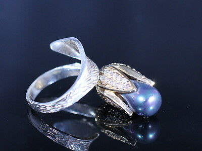 Beautiful! Turkish Handmade Pearl Sterling Silver 925K Ring Size Adjustable