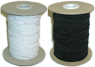 Top Quality 2Mm Elastic Bungee Shock Cord, Black Or White 50Mtr Roll, Art 46314