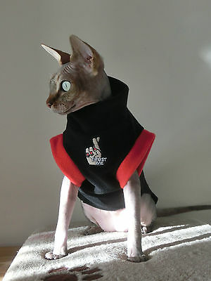 TRUST small adult goth Sphynx clothes sweater for a cat, Nacktkatze pet clothes