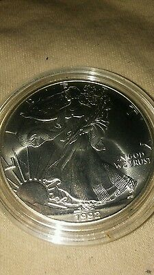 Us 1992 - Silver American Eagle Coin, Uncirculated