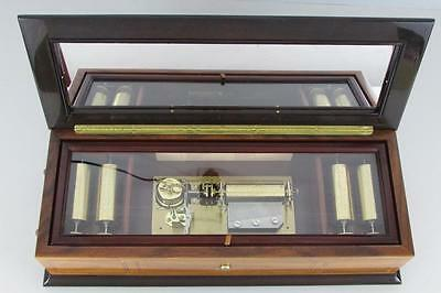 SUPERB REUGE MUSIC BOX wth 5 INTERCHANGEABLE CYLINDERS & 50 note comb CLOCK WORK