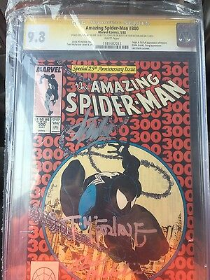 Amazing Spider-Man 300 cgc 9.8 wp signed x3!! LEE MCFARLANE MICHELINIE 1st venom