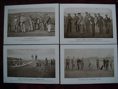 Golf Prints -  4 Scenes from St. Andrews -19th Century - The Golf Collection