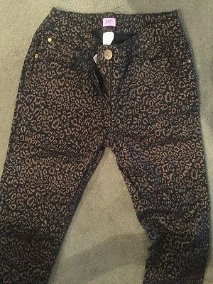 F&F Black and Gold Jeans Age 13-14. 6-8