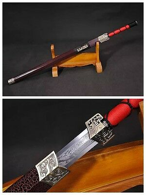 """Hand Forge Chinese Sword """"Han Jian"""" Alloy Fitting Carbon Steel Hand Forge #90"""