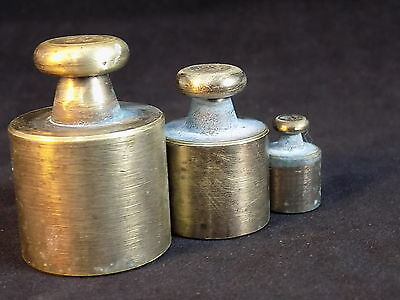PRECISION FISHER BRASS WEIGHTS SET 200 gram, 100 gram, 20 gram 3 weight set