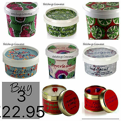 Buy Any 3 Bomb Cosmetics ,candle,body Butter Scrub For £22.95