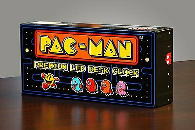 PAC-MAN Premium LED Desk Clock - Officially Licensed Merchandise