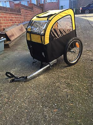Dog Bike Trailer  Cycle Puppy Transport Pet Travel Cage