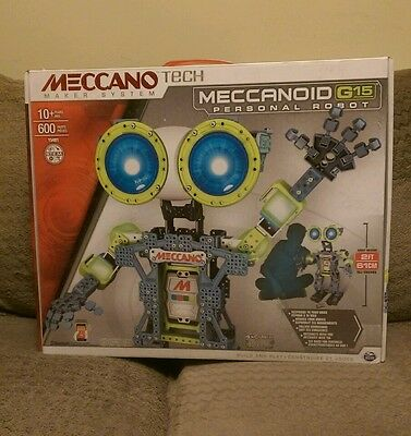 Meccano Tech Meccanoid G15 Interactive Robot approx 2ft tall ,  SEE LISTING