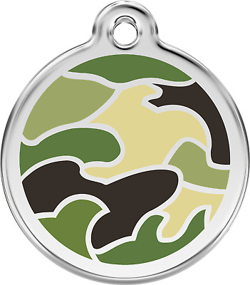 Médaille chien ou chat  RED DINGO camouflage 3 tailles 3 couleurs