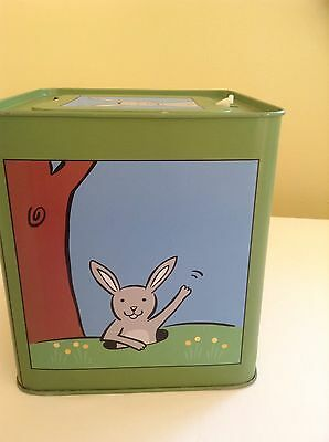 "Music Box~Jack The Rabbit Jack In The Box. ""Here Comes Peter Cottontail'~Tin Box"