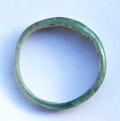 Ancient Roman Glass Bracelet  with nice green patina 1st-2nd century CE