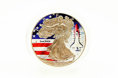 USA - 1 oz American Eagle - Space Shuttle - Color 2014 - LAGERRÄUMUNG