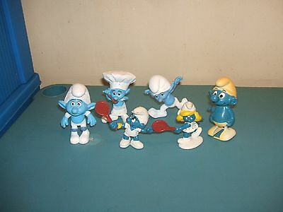 lot Tennis Smurf Smurfette & more smurfs figure Figurine original Peyo Schleich