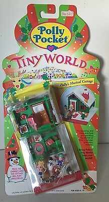 Vintage Polly Pocket Polly's MUSICAL COTTAGE Playset Bluebird Toys NEW MOC RARE