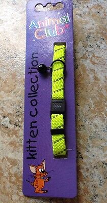 Animal Club Kitten Collection Adjustable Safety Cat Collar Reflective Stripe NEW