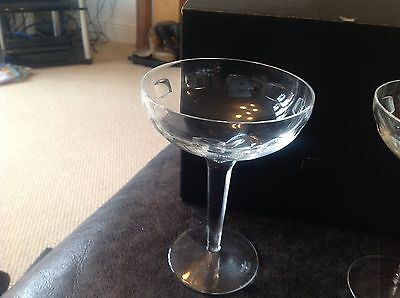 Pair Of John Rocha Geo Waterford Crystal Cocktail Glasses