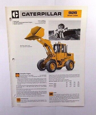 Caterpillar 924G Wheel Loader Original Sales - specification Brochure