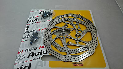Pair of AVID HS1 G3 disc brake rotors 140mm for Elixir/Juicy/bb5/bb7 with bolts