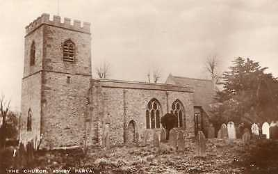 The Church, Ashby Parva, Leicestershire.  Real photograph.