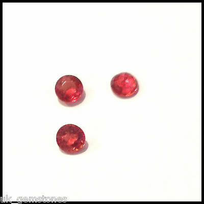 Round Natural Red Songea Sapphire 0.19ct Single Stone. 'Video'
