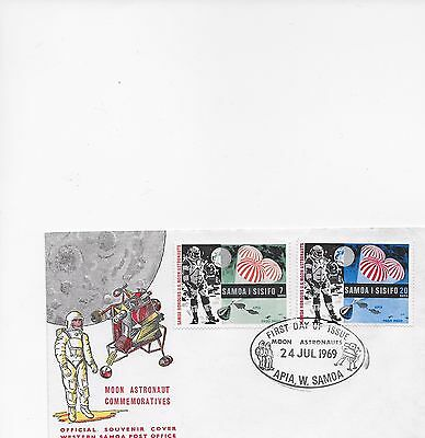 Samoa First Day Cover Moon Astronaut 24-7-1969