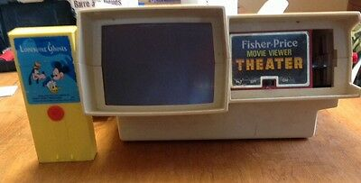 Vintage Fisher Price Movie Theatre With Disney Lonesome Ghosts Carthage Working