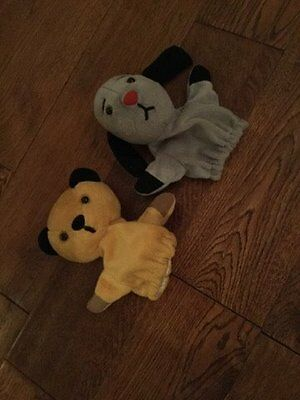 pair of Original Sooty and Sweep Puppets