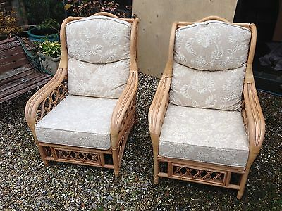 Bargain to clear 2 cane chairs