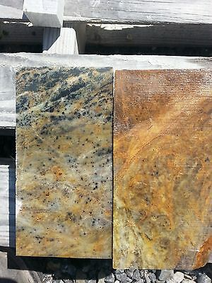 2PC ADVANCED PACK 6x3x3 Soapstone for carving block, slab, pipe making, pendants