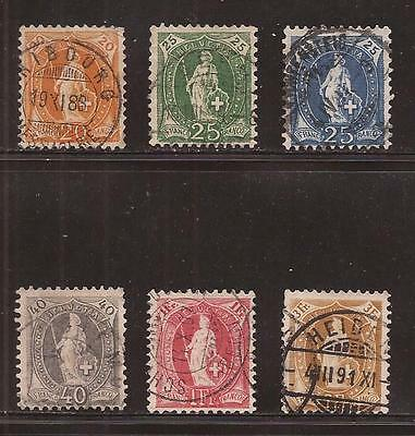 SWITZERLAND  1882 to 1903  LOT OF HELVETIA  LARGE NUMERAL  STAMPS