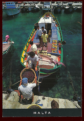 (47990) Returning from the fishing. Malta. Impressions of Malta Postcard