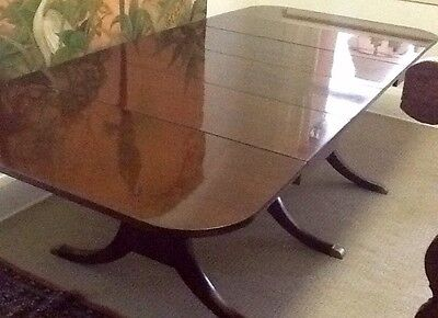 Rare Regency Style mahogany drop leaf extension table